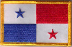 Panama Embroidered Flag Patch, style 08.
